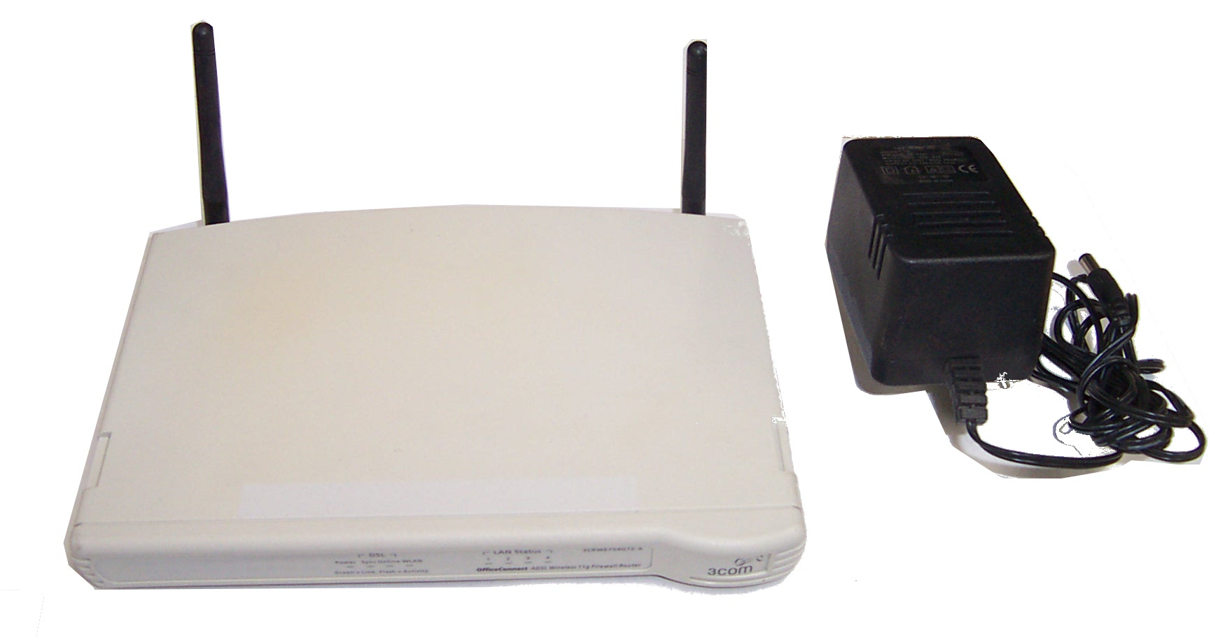 3Com 3CRWE754G72-A Model WL-540A ADSL Wireless Router Enlarged Preview