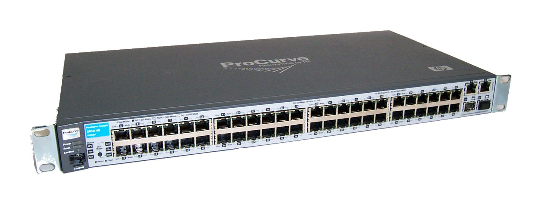 hp procurve j9088a 2610 48 48 port gigabit ethernet nw