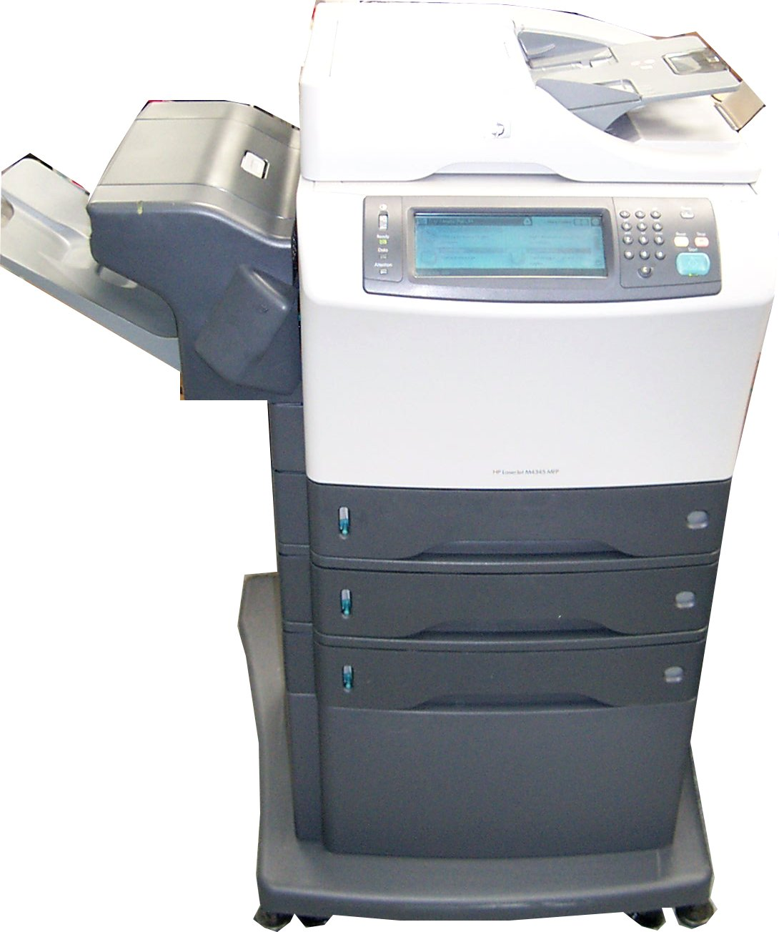 hp cb427a laserjet m4345 mfp multifunction printer with stand p count 159071 One Tray HP LaserJet M4345 HP M4345 MFP Firmware