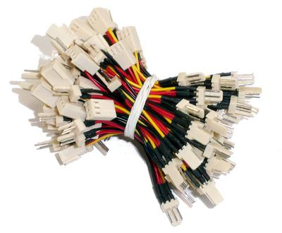 View Item New 50-Pack 3-pin Male to 3-pin Female+2-pin Male Fan Cables