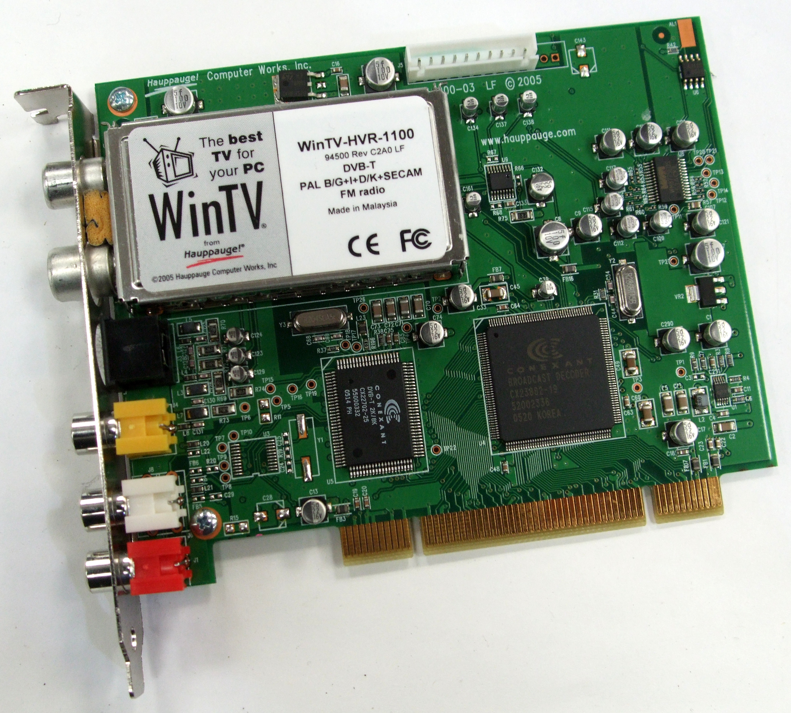 WinTV-HVR-1100 Hauppauge Standard Profile PCI DVB-T Digital TV Tuner Card Enlarged Preview
