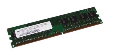 View Item HP 377725-888 512MB PC2-5300U CL5 DDR2 DIMM - Micron MT8HTF6464AY-667D7