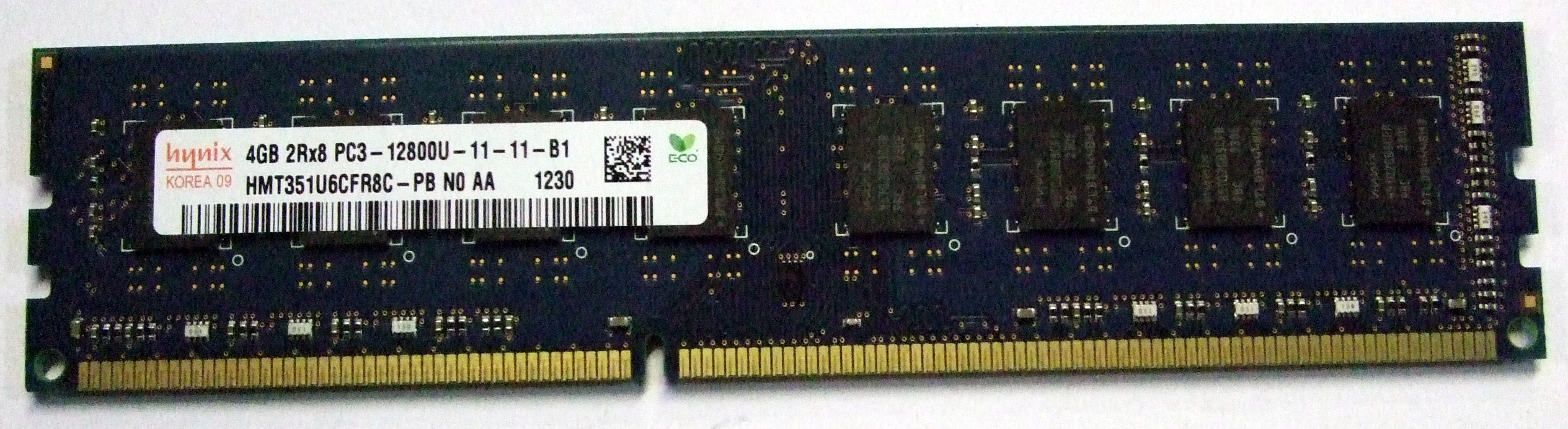 HMT351U6CFR8C-PB N0 AA Hynix 4GB DDR3 PC3-12800U RAM DIMM Enlarged Preview