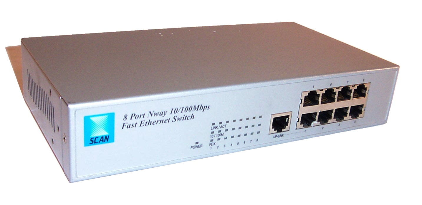 Scan xw 308r 8 port nway 10 100mbps fast ethernet switch ebay - 8 port fast ethernet switch ...