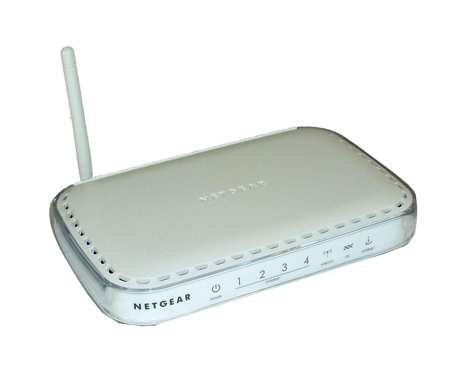 Netgear DG834G v4 4-Port 54Mbps Wireless ADSL2+ Modem ...
