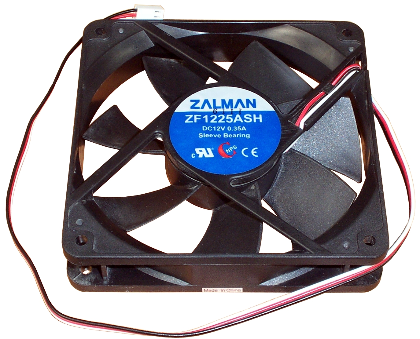 Zalman ZF1225ASH 120mm DC12V 0.35A Case Fan - 3-pin Enlarged Preview