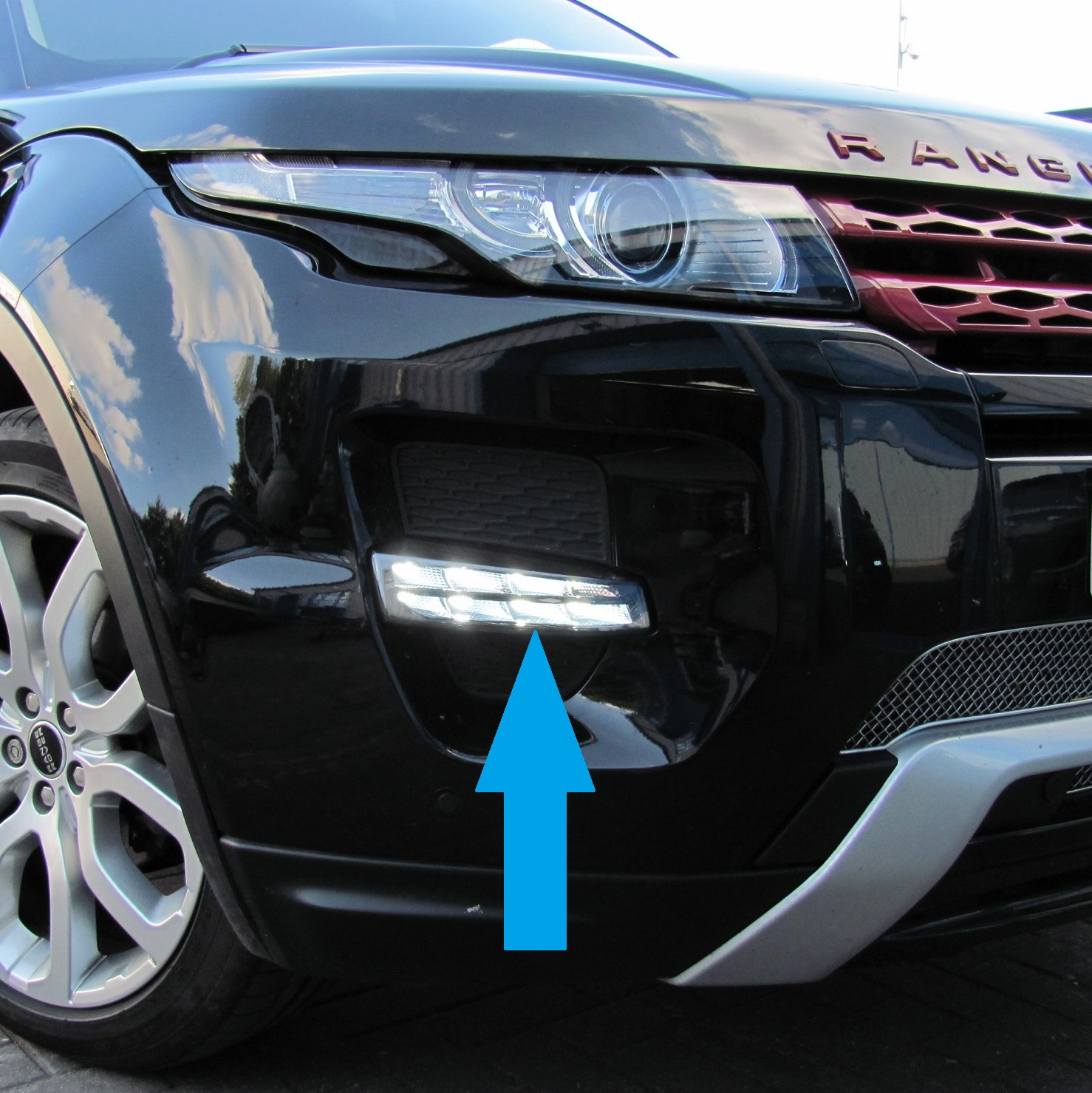 Range Rover Evoque LED DRL Front Fog Lamps Lights Upgrade