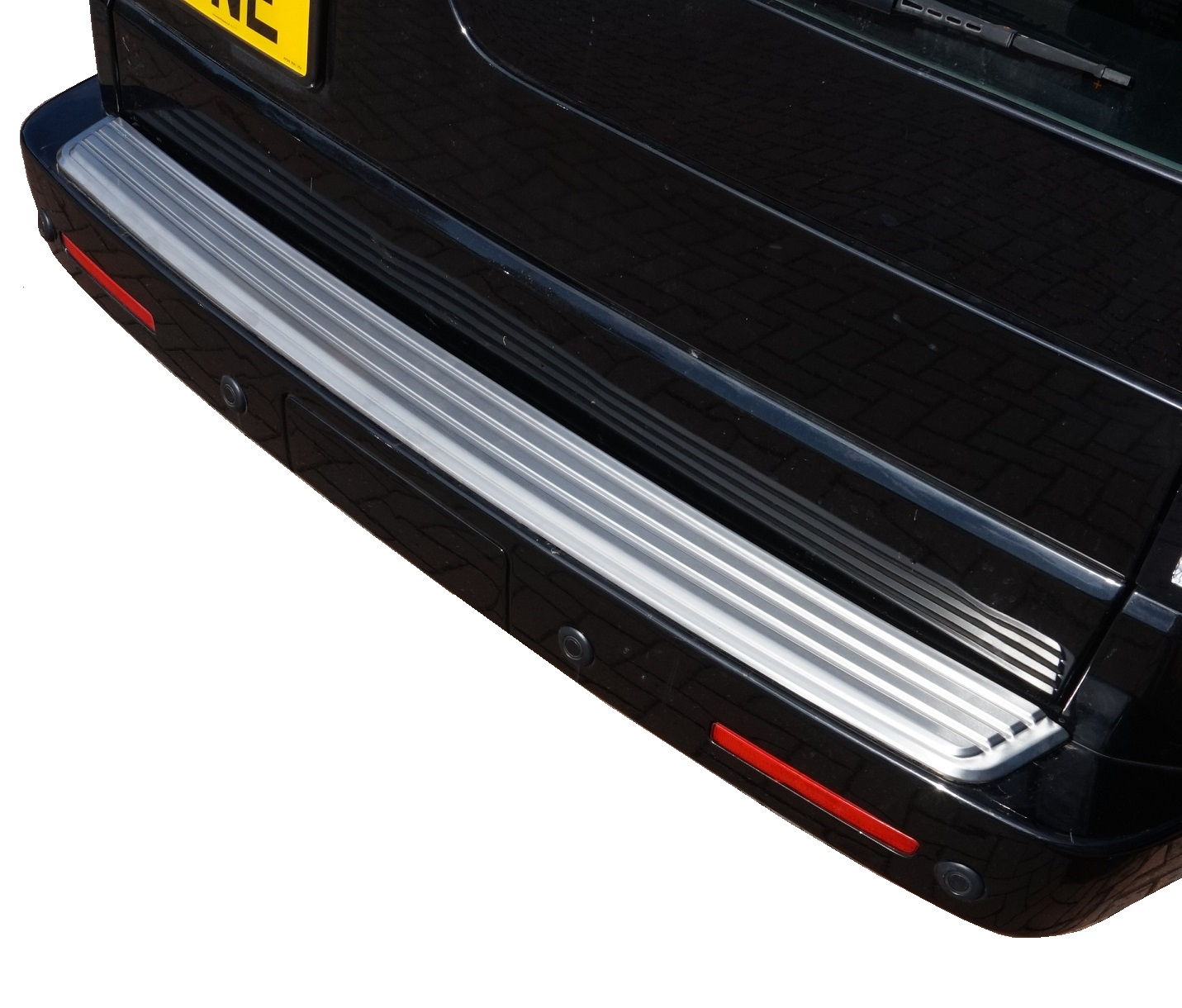 Brushed Rear Bumper Step Cover For Land Rover Discovery 3