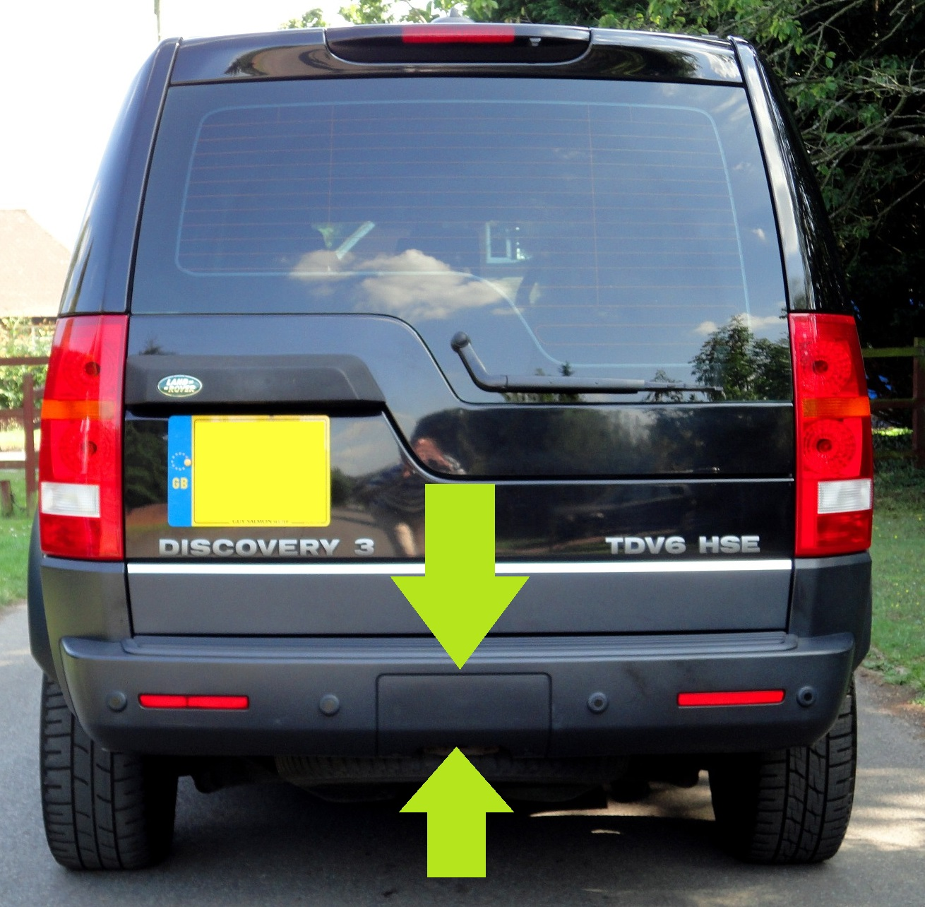 Rear Bumper Insert Panel Tow Eye Cover For Land Rover