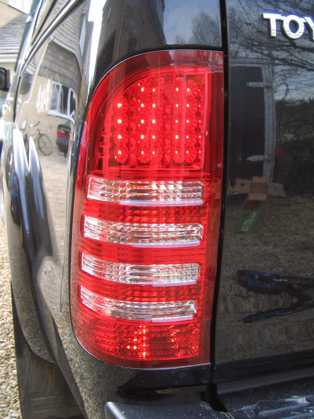 Rear Led Tail Light Kit For Toyota Hilux Mk6 Mk7 Vigo