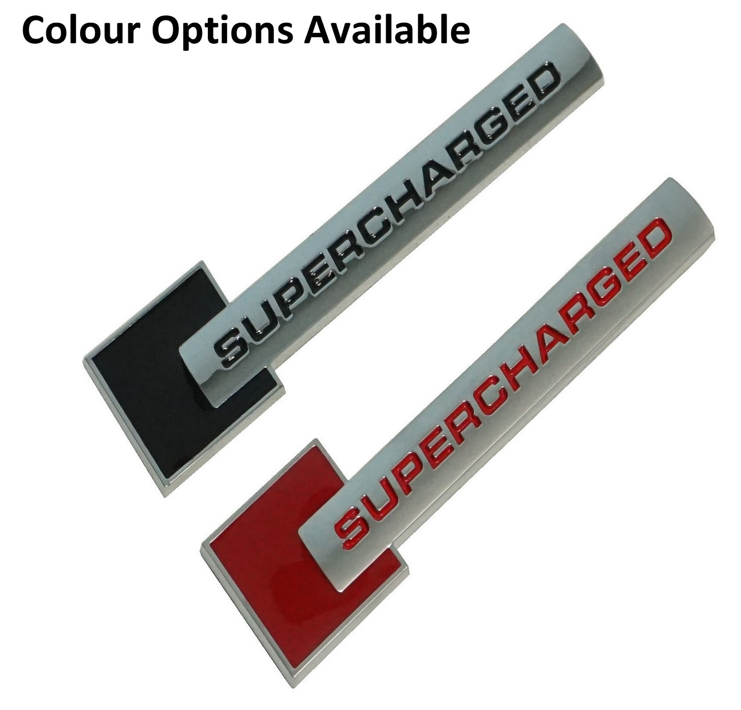 Supercharger Honda Jazz: Red & Silver Supercharged Badge For Volkswagen Audi Advant