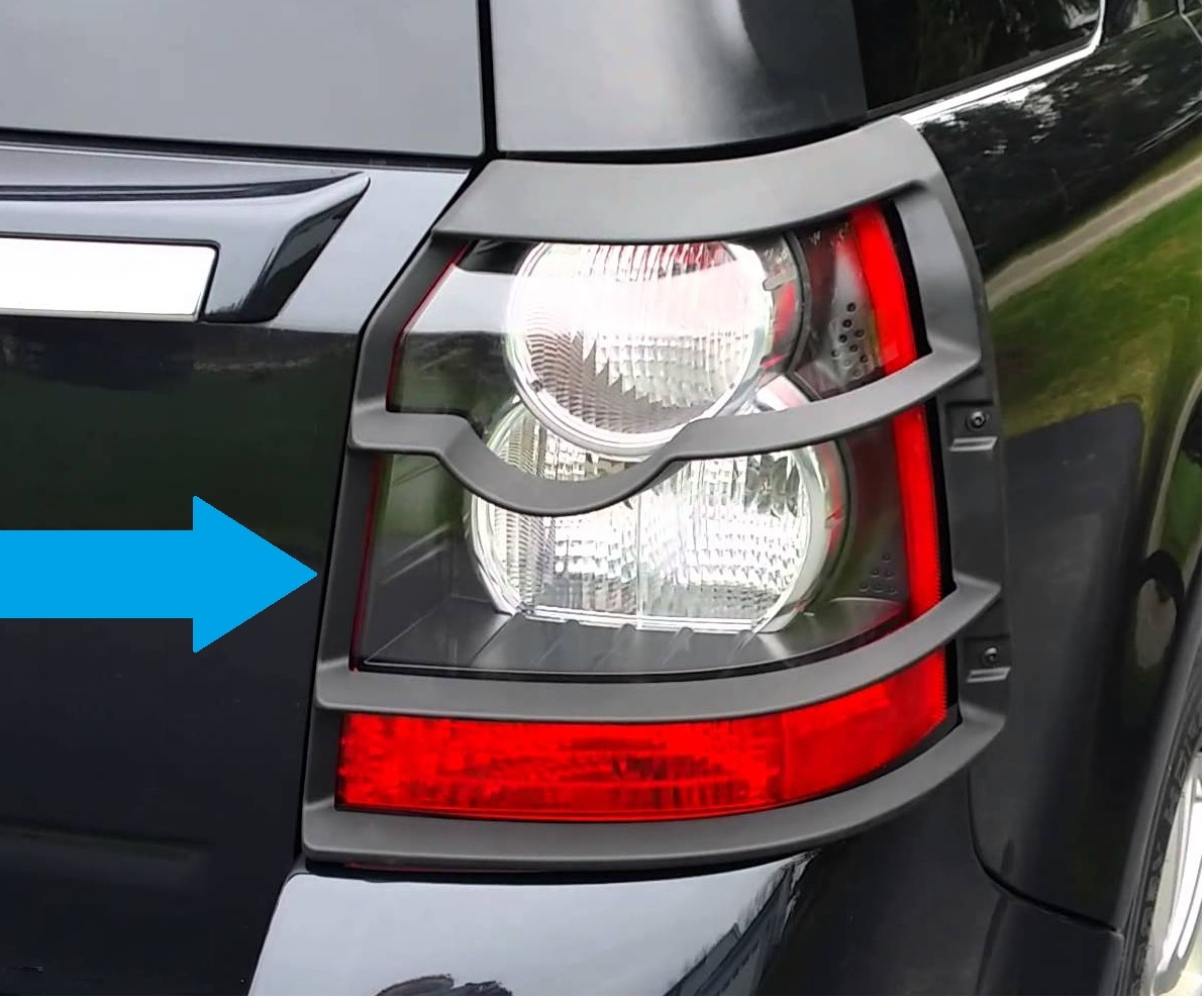 Genuine Rear Light Guards Black Land Rover Freelander 2 Tail Covers