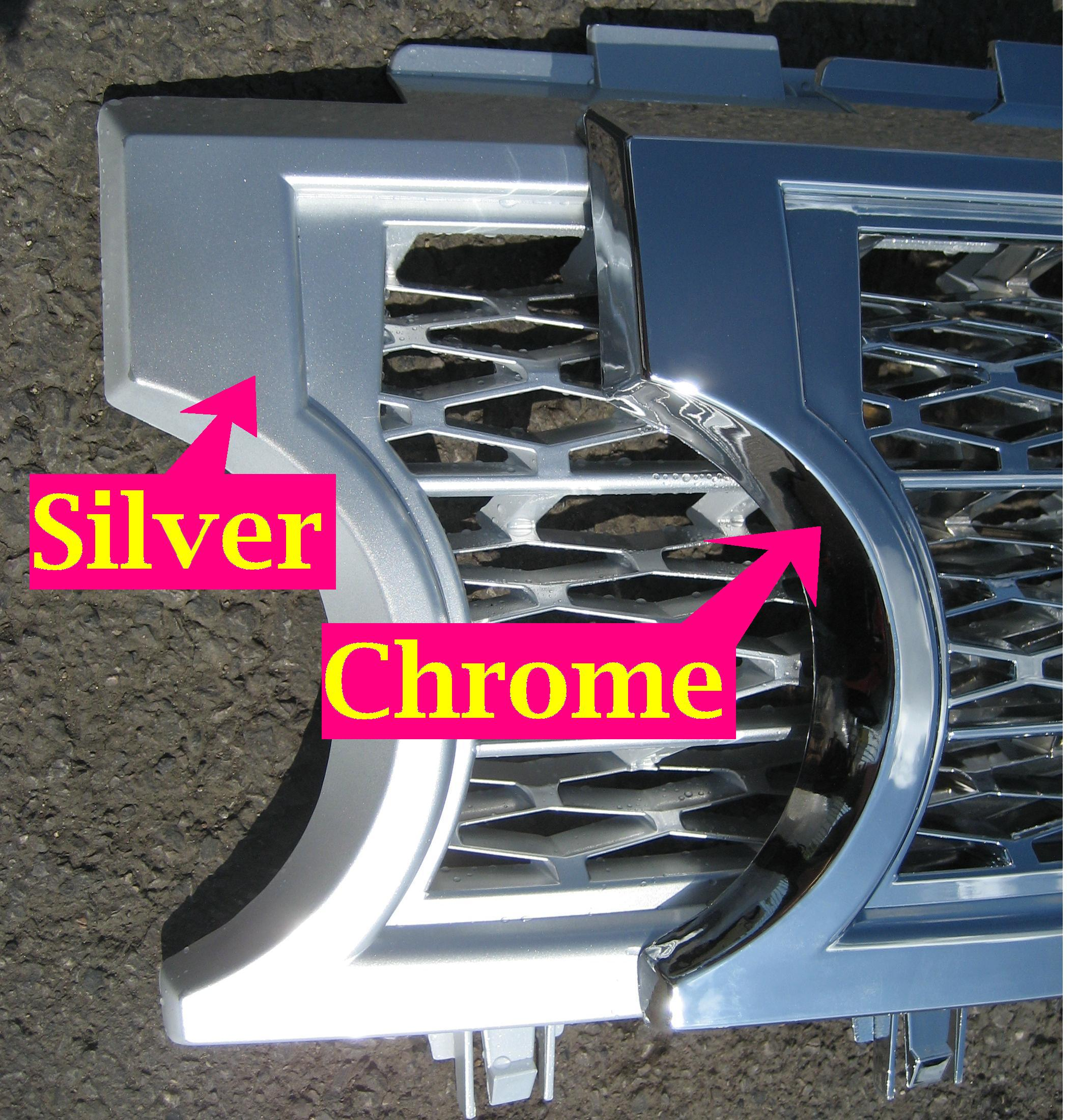 Chrome SUPERCHARGED GRILLE Conversion Kit For Range Rover