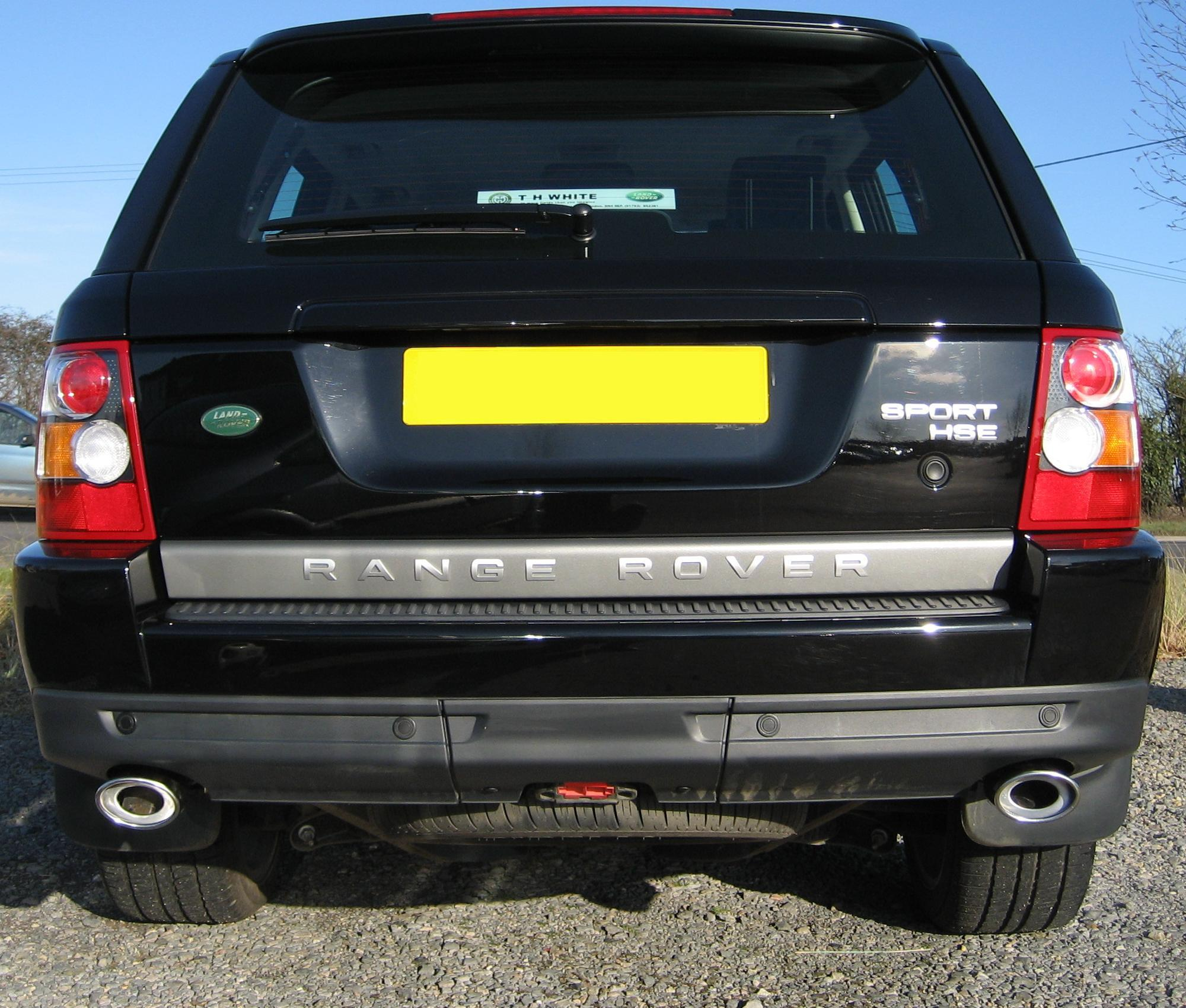 Twin EXHAUST TAIL PIPE Tips For Range Rover Sport HST End