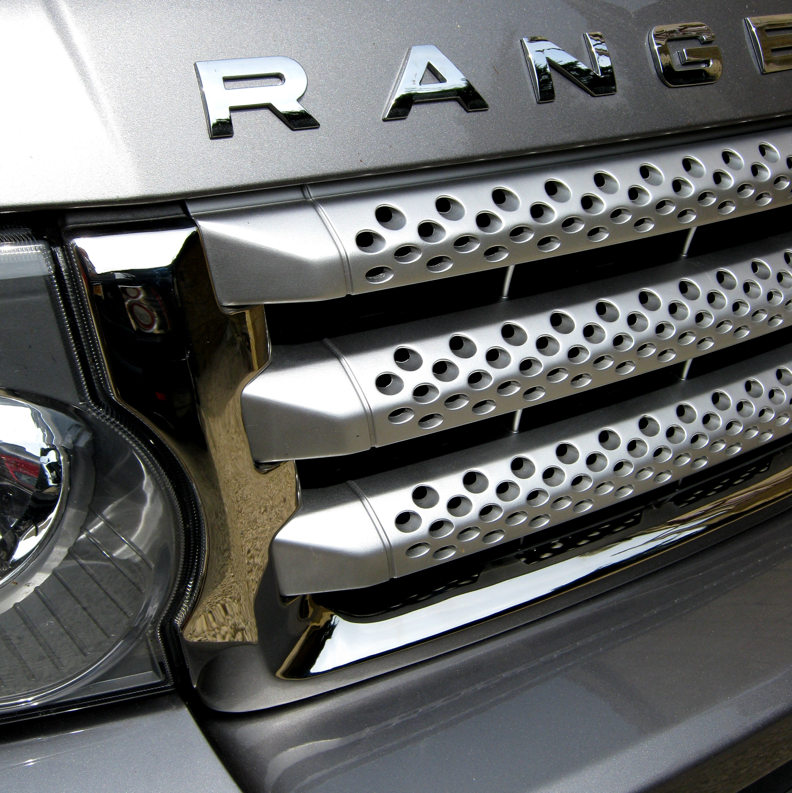 CHROME Front GRILLE Surround Trim For Range Rover Sport
