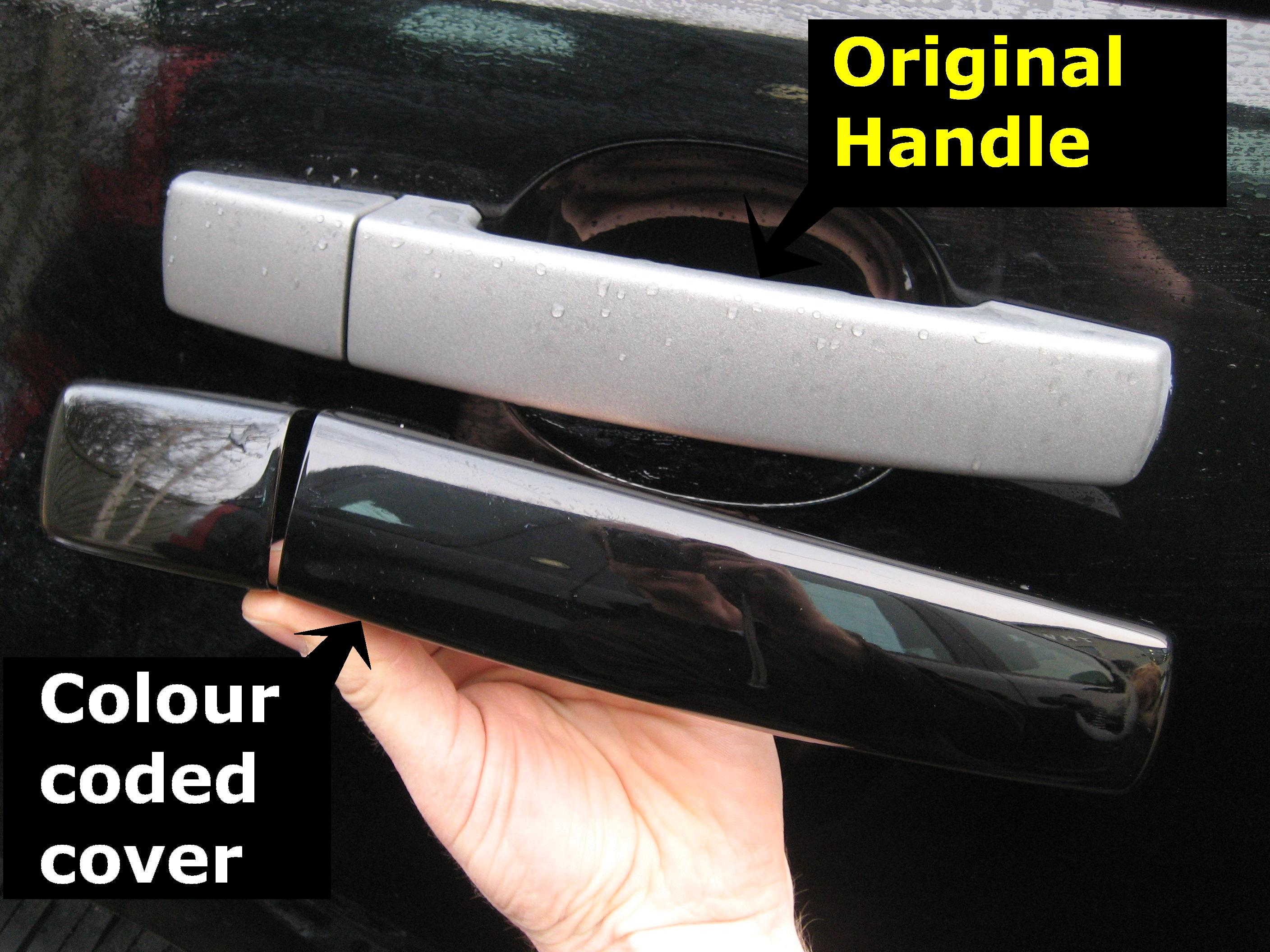Java Black Door Handle Cover Kit For Range Rover Sport