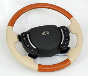 Range rover L322 Steering Wheel - Cherry with Parchment Leather HEATED Preview