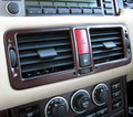 View Item Range Rover L322 Center Air Vent Facia Panel - Burr Walnut