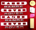 View Item Range Rover L322 Chrome Lettering Kit - Front + Rear + Tool + Wipes