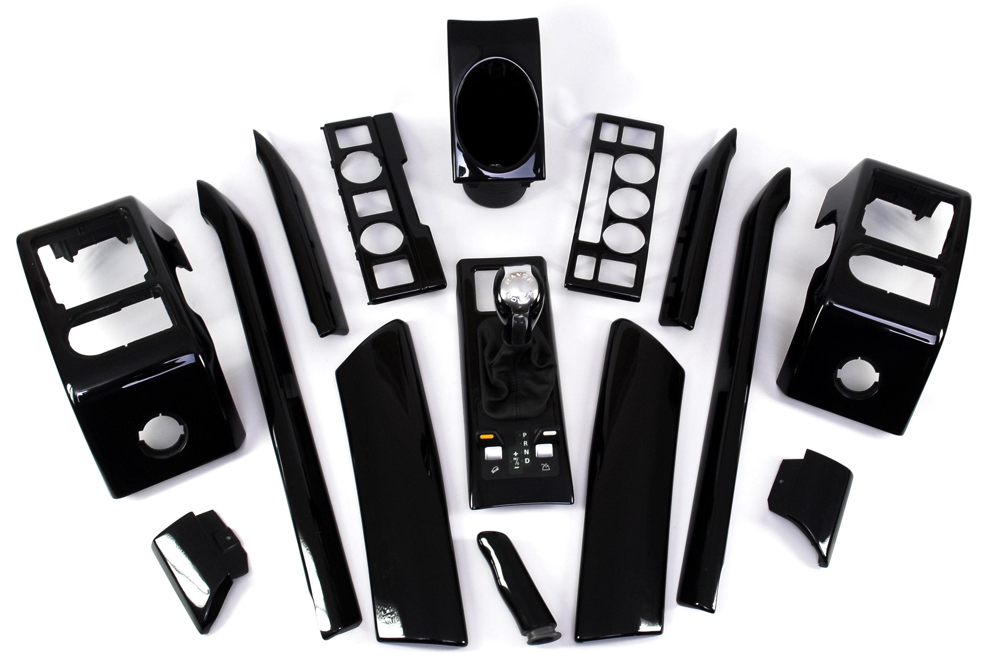 Clock Terrain Panel Fascia Black Piano Range Rover L322 Interior Autobiography