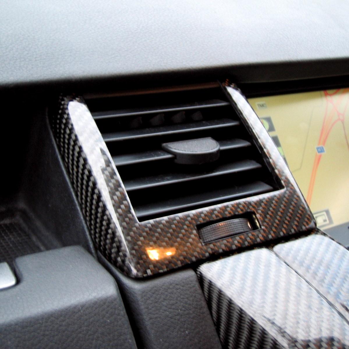 2002 Land Rover Range Rover Interior: Black Carbon Fiber Fibre Interior Dash Air Vent Kit Range