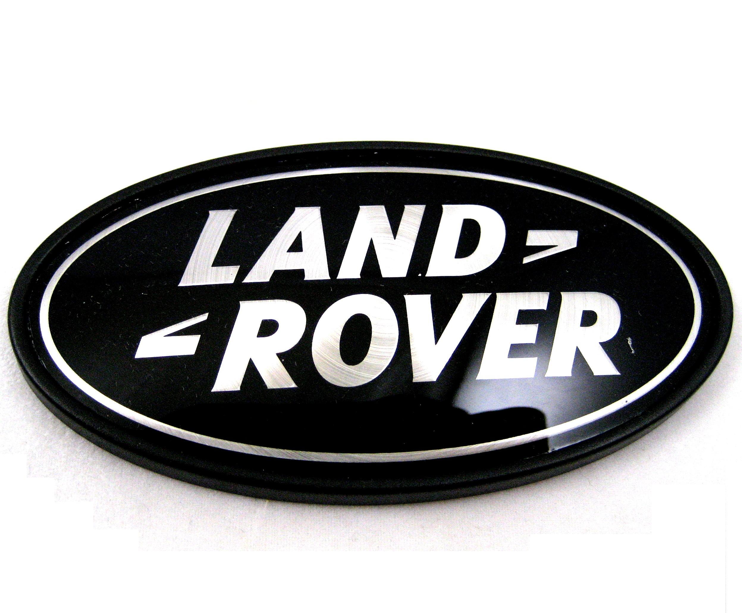 Range Rover Logo Vector >> Land Rover Freelander 1 black+Silver oval rear badge upgrade TD4 diesel 3 5 door   eBay