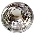 View Item Crystal Lens CLEAR round caravan Indicator Light + Chrome Bulb