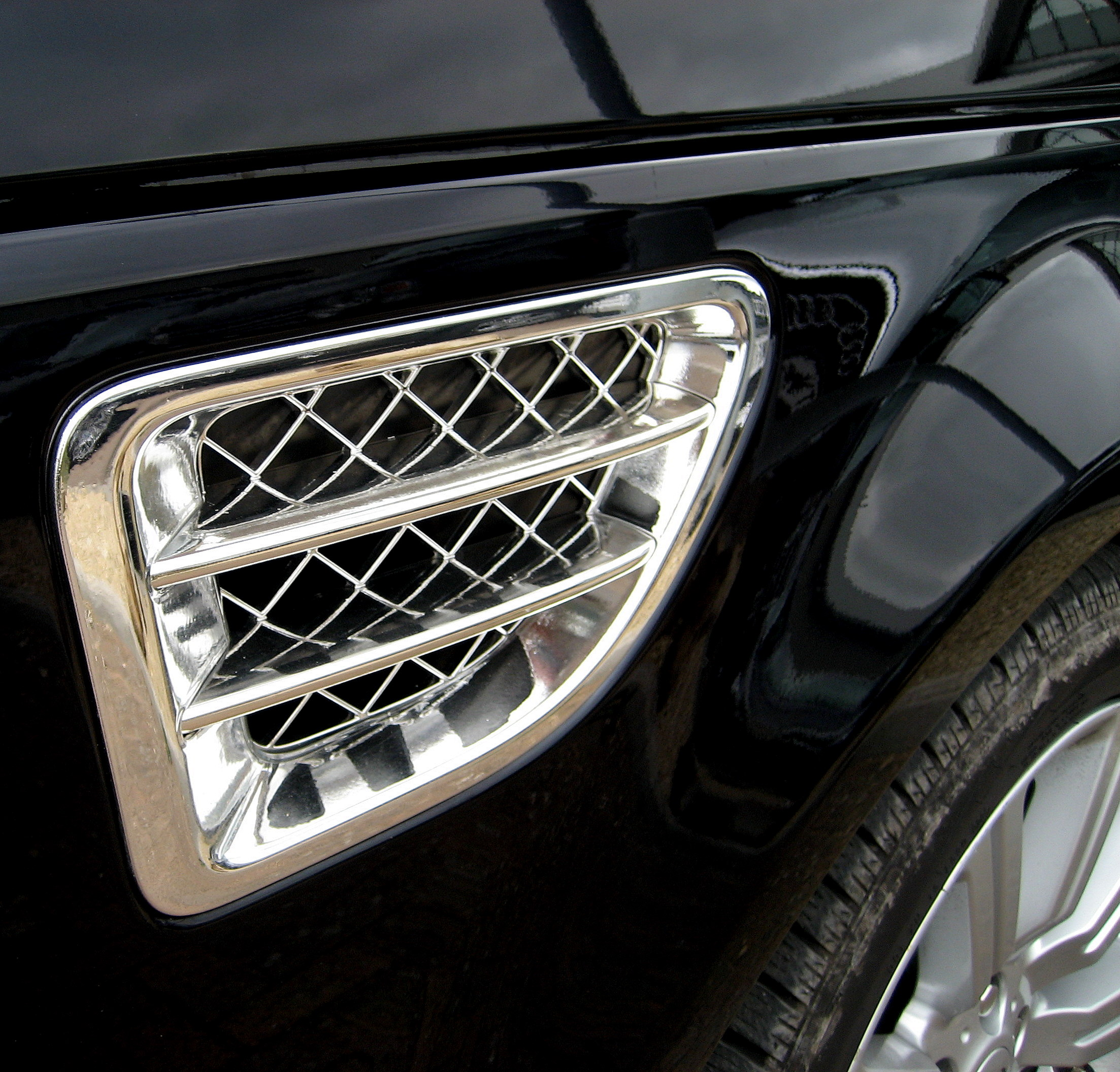 Chrome Side Wing Vents Range Rover Sport Air Intake Fender
