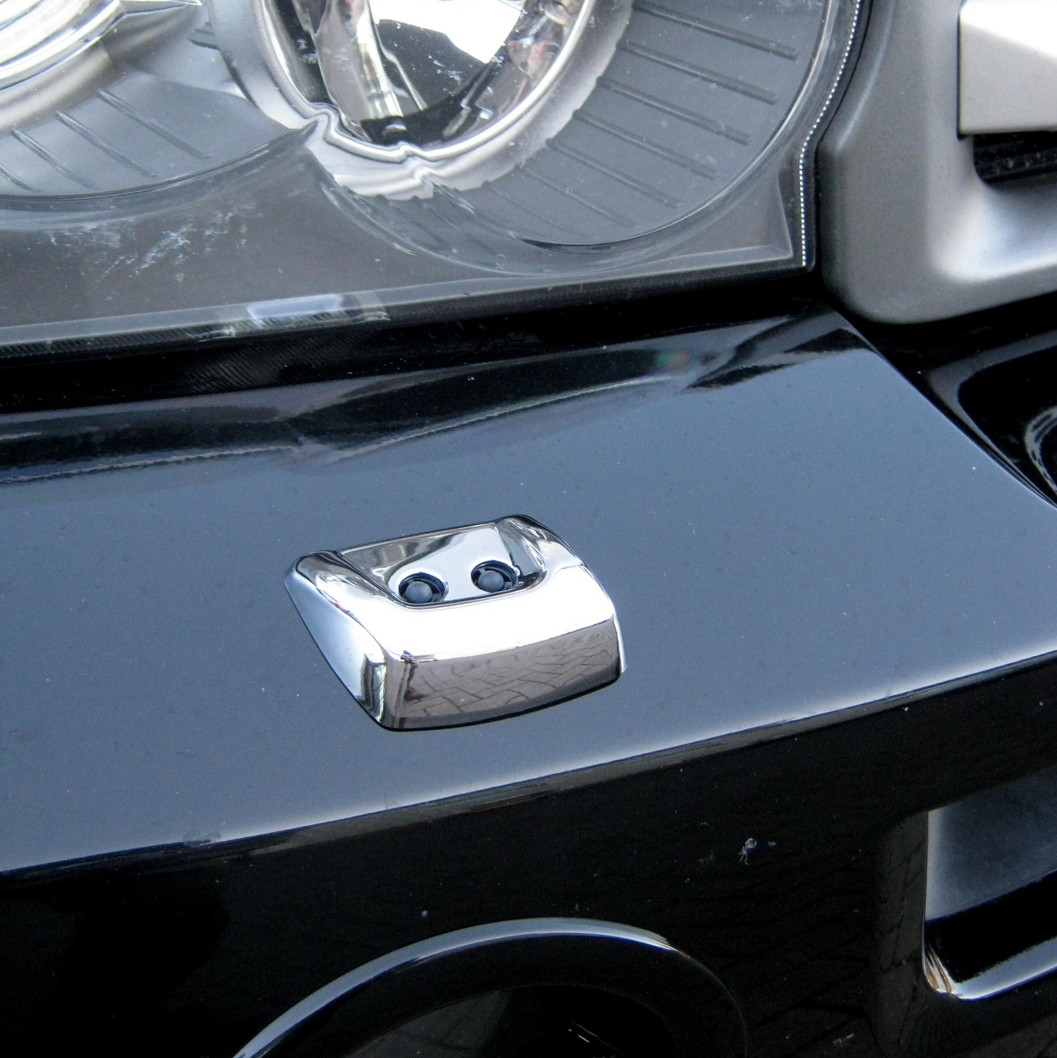 Front Bumper Headlight CHROME WASHER JET COVER For Range
