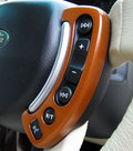 View Item Range Rover L322 Steering control facia kit - Cherry Wood