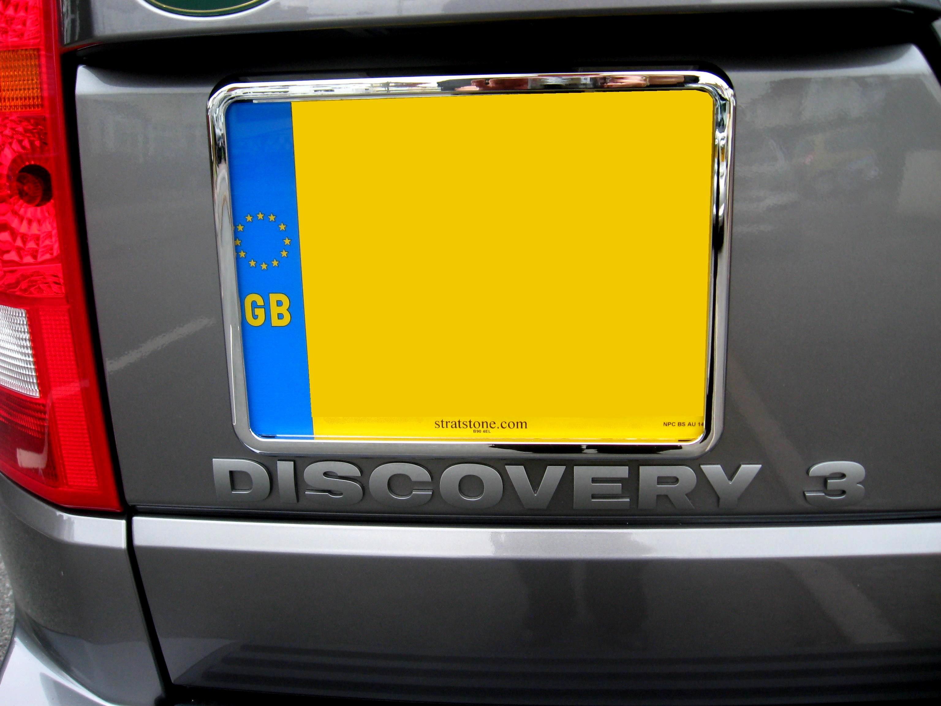 Chrome Number Plate Frame Surrounds Land Rover Discovery 3