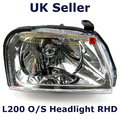 View Item Right ( O/S ) Headlight for Mitsubishi L200 pickup