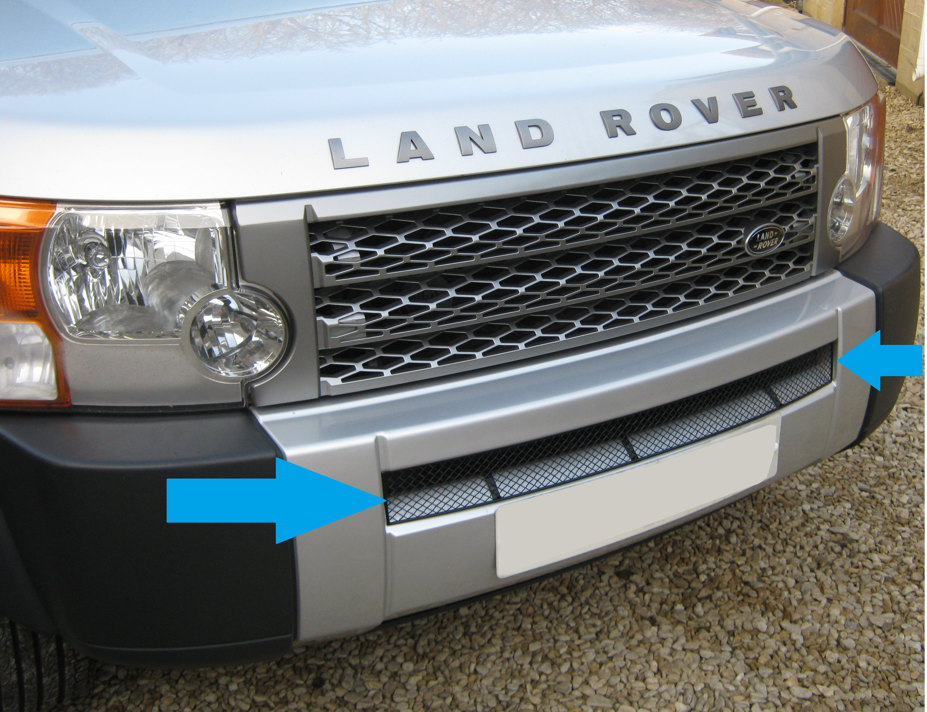 Black Lower Front Bumper Lower Mesh Grille For Land Rover