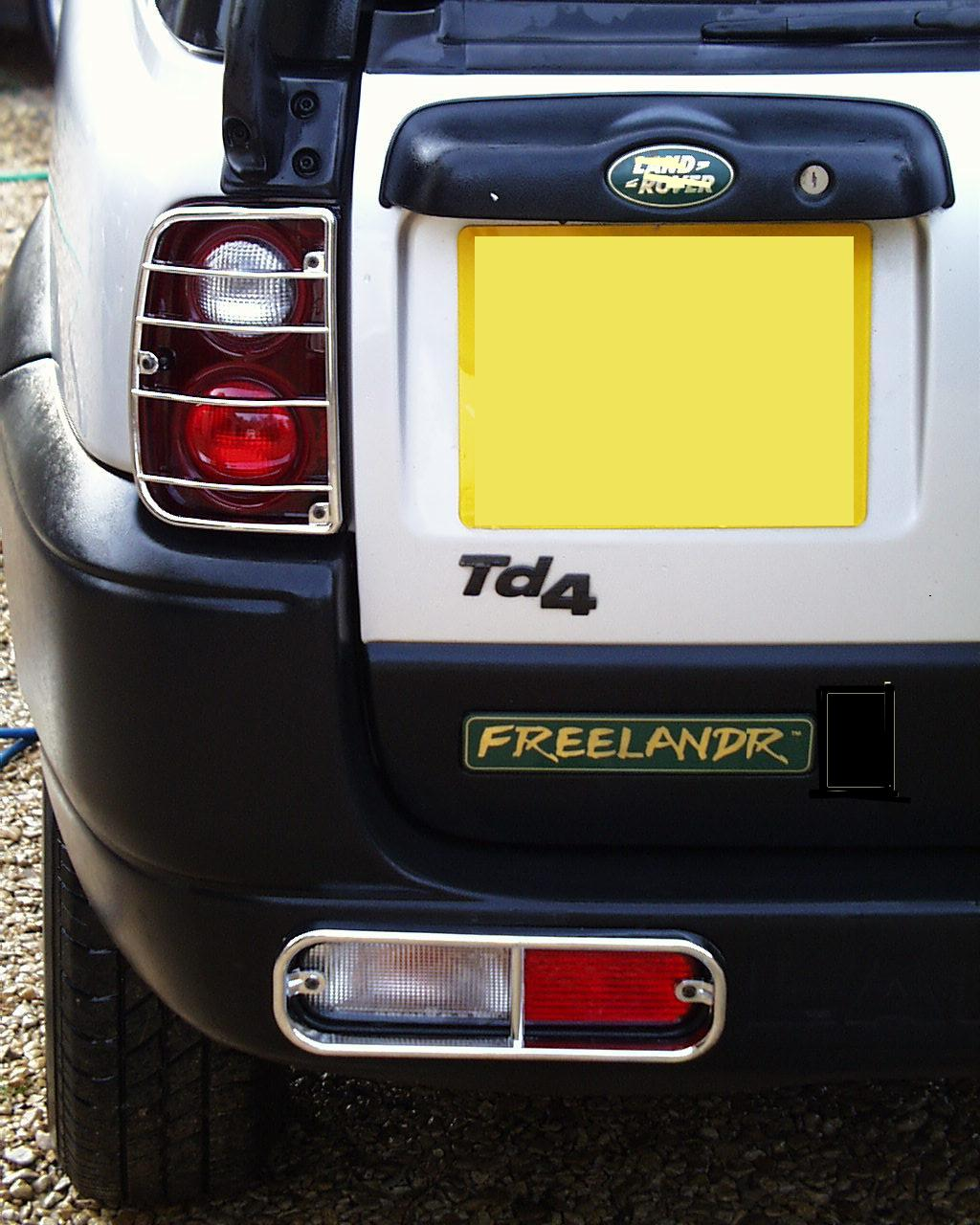 Rear Light Guards Chrome For Land Rover Freelander Lamp