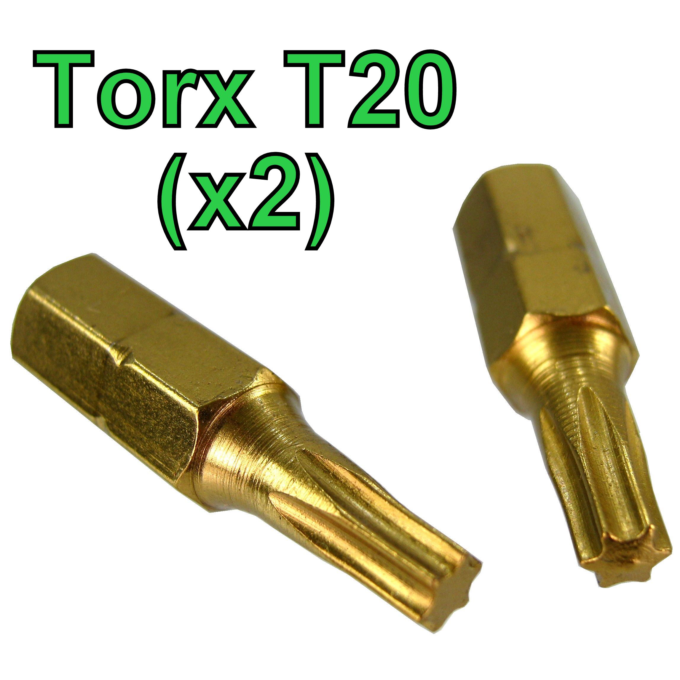 torx t20 screw driver bit 2 pack long life titanium coated star trx gold. Black Bedroom Furniture Sets. Home Design Ideas