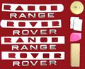 View Item RANGE ROVER Titanium Silver Lettering Kit - Front + Rear + Tool + Wipes