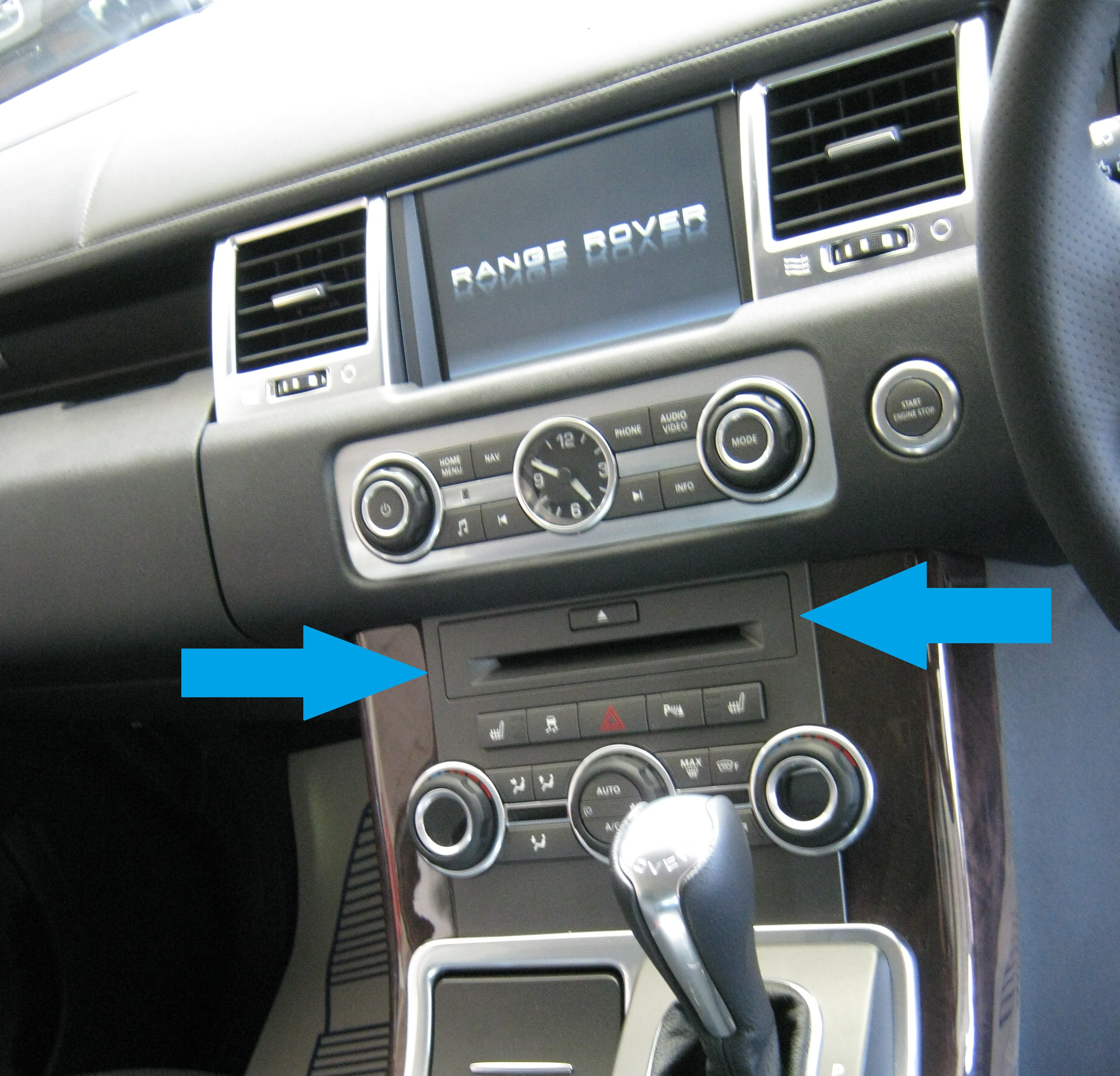 2002 Land Rover Range Rover Interior: Black Carbon Fibre Fiber Centre Dash CD Fascia Range Rover