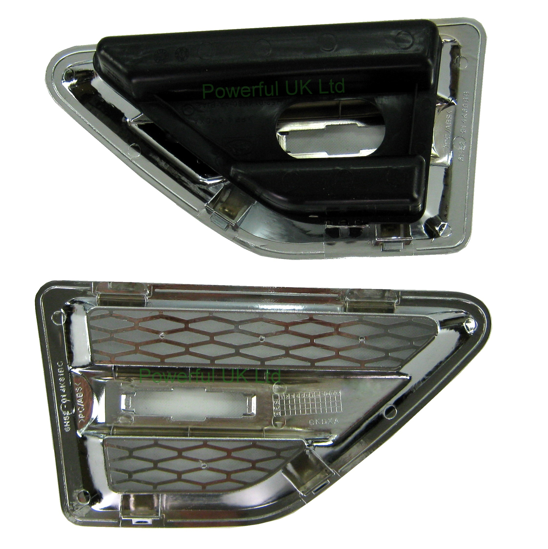 Chrome Land Rover Freelander 2 wing side air intake vents ...