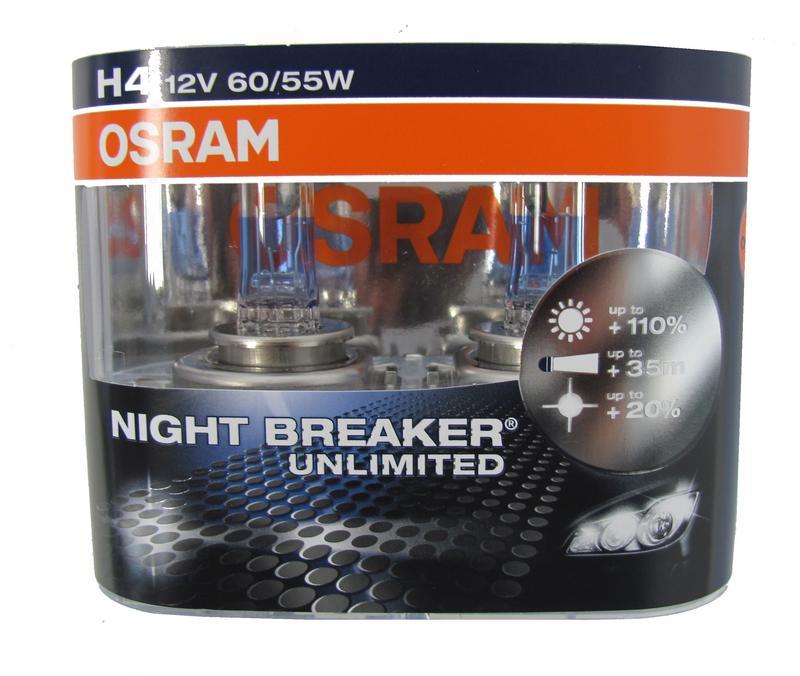 osram h4 high power night breaker unlimited bulbs pair. Black Bedroom Furniture Sets. Home Design Ideas