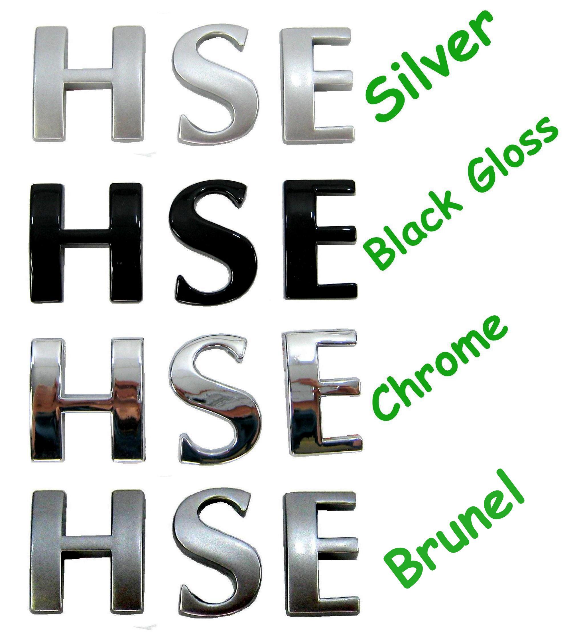 Gray Alphabet Font: Brunel Grey Letters HSE Logo For Range Rover L322 Diesel