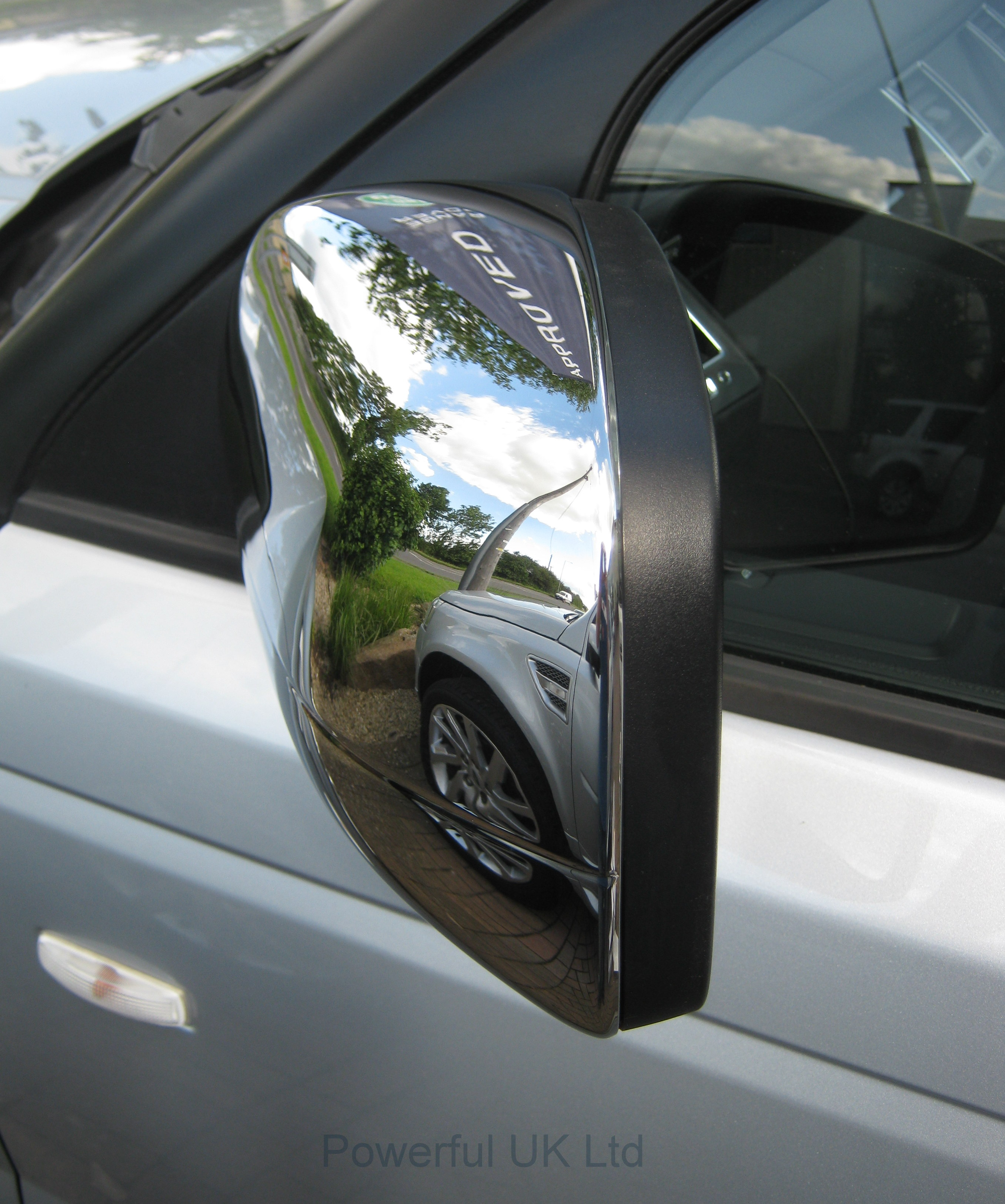 Chrome FULL Door MIRROR COVERS For LandRover Discovery 4