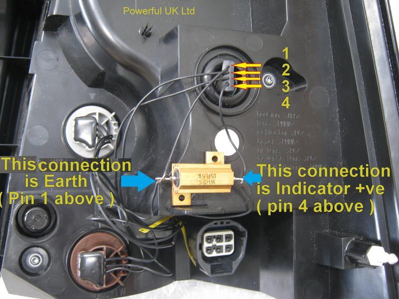 Range Rover Sport 2010 Led Rear Light Conversion Indicator Ballast Resistor Kit  X2