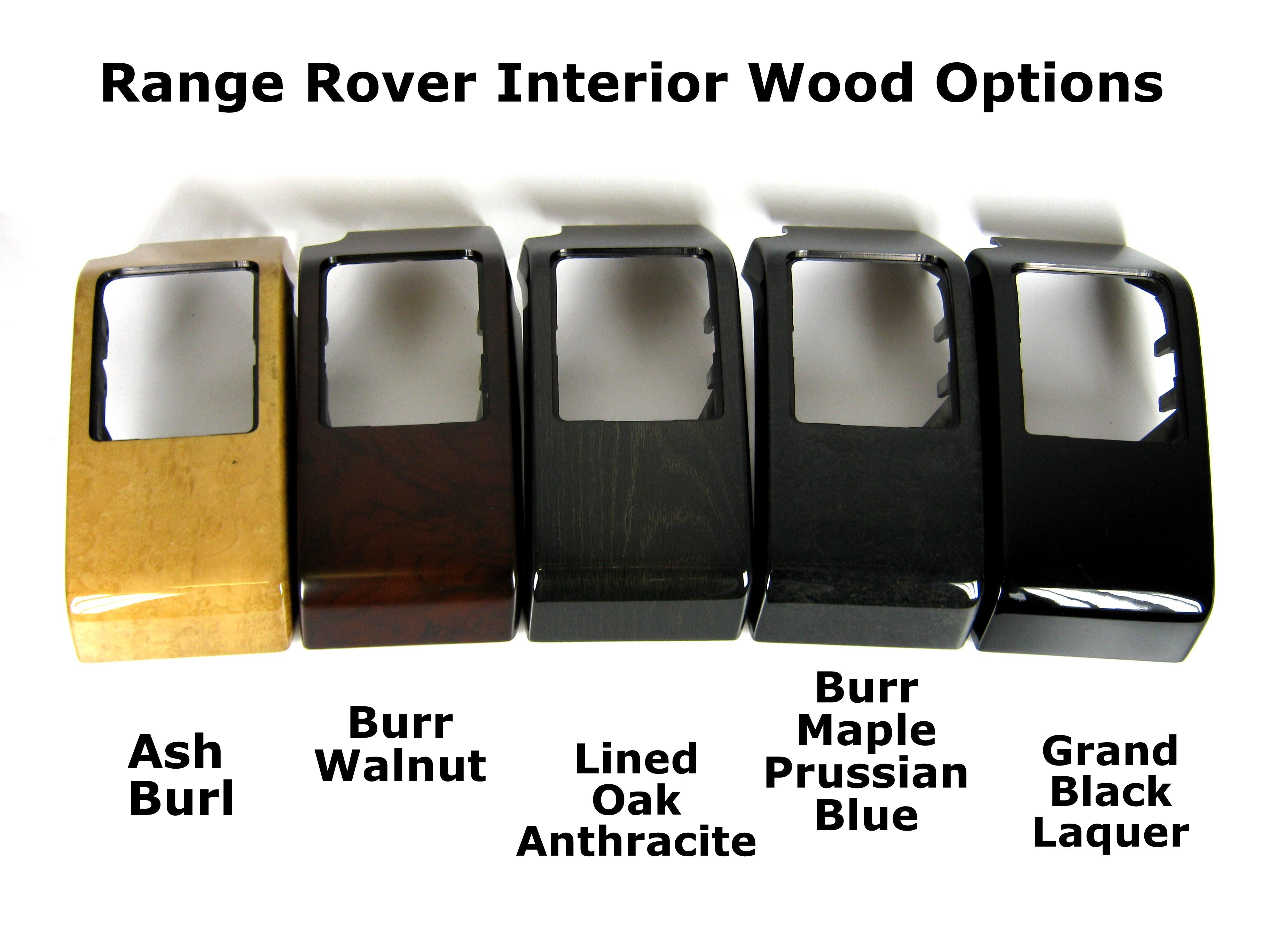 Interior Door Handle Pull Surround x4 Black Piano Range Rover L322 ...