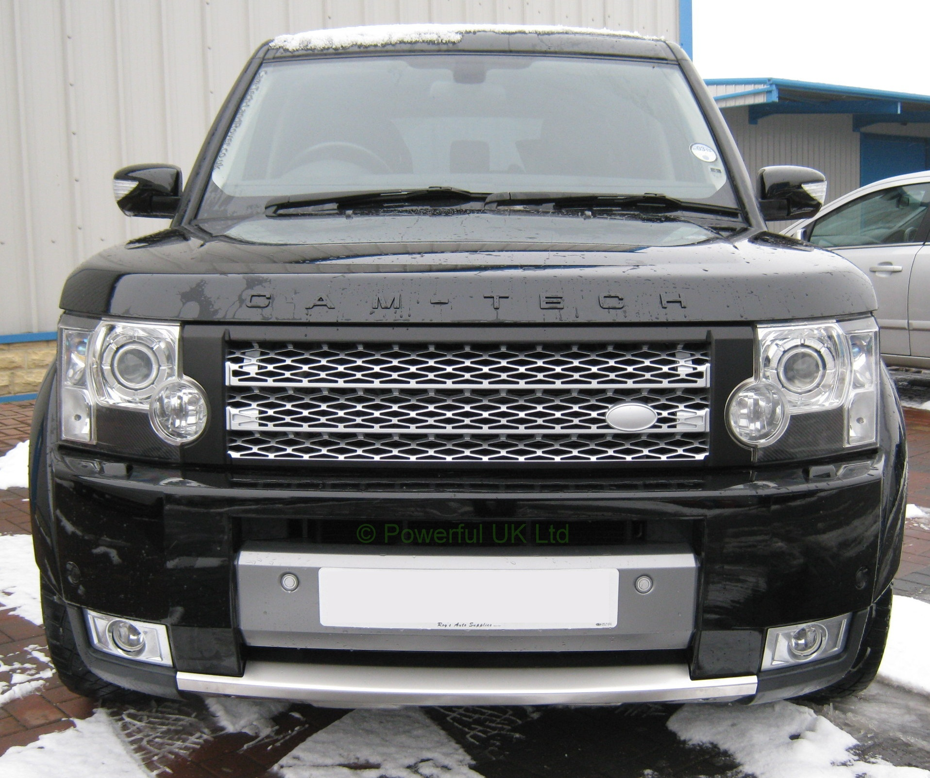 Sold Land Rover Discovery 3 Discov: Satin Black+silver Front Grille For Land Rover Discovery 3