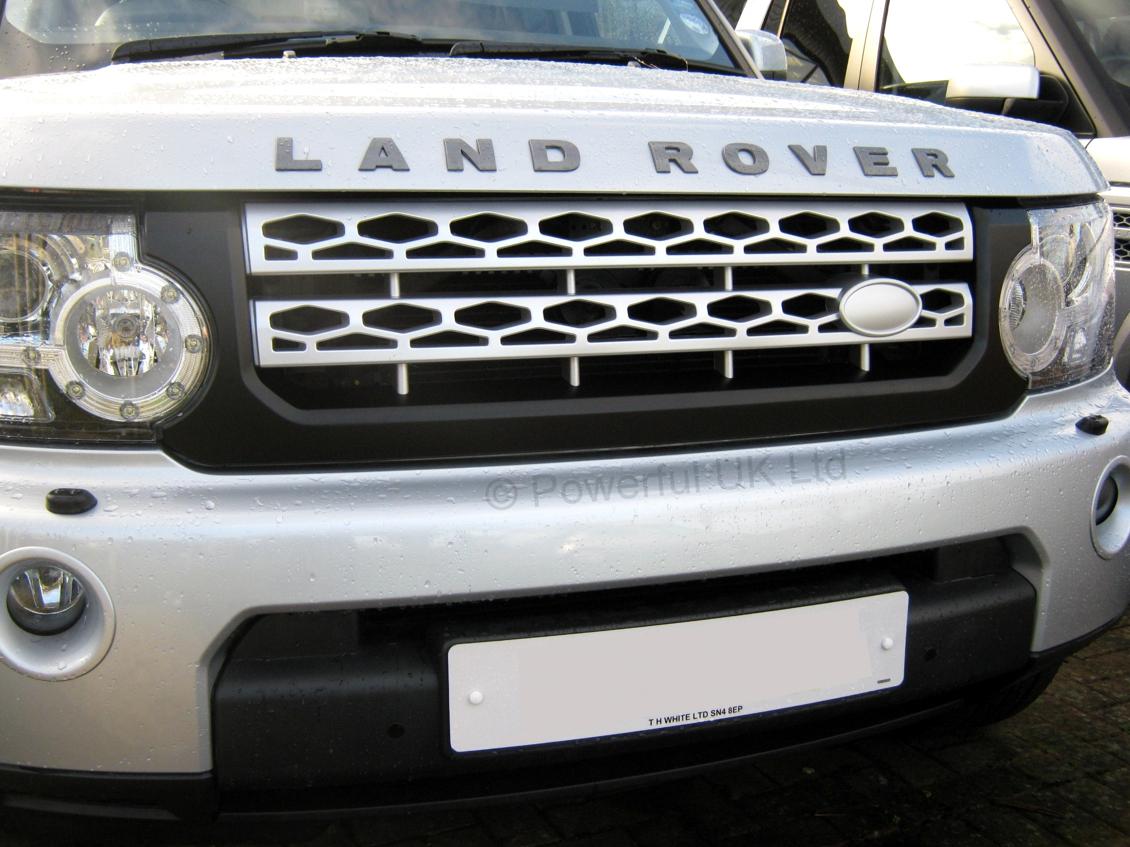 Black Silver New Front Grille Upgrade Kit For Land Rover