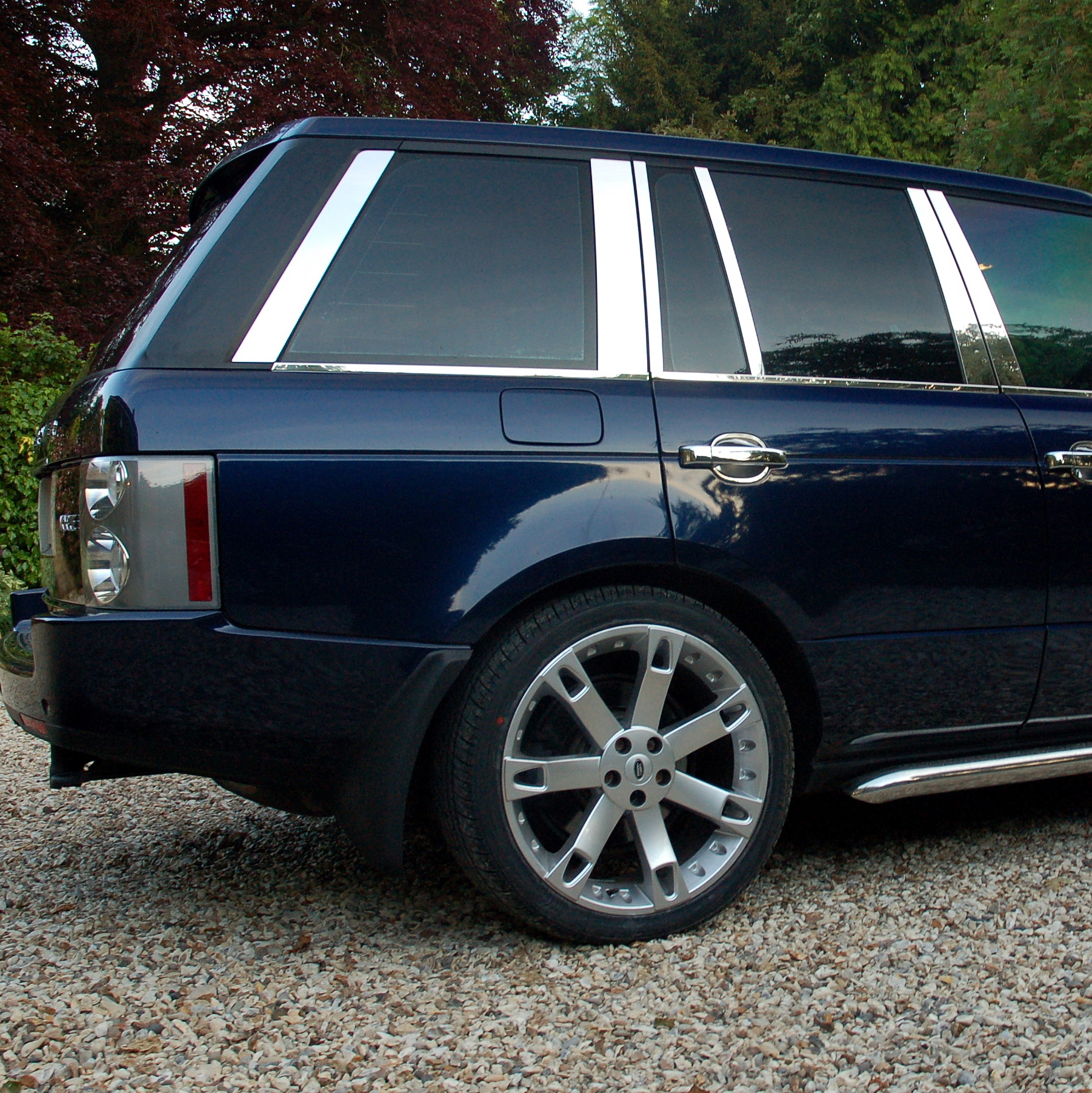 Land Rover Parts For Sale: Chrome B C D PILLAR COVERS 12pc Kit For Range Rover L322