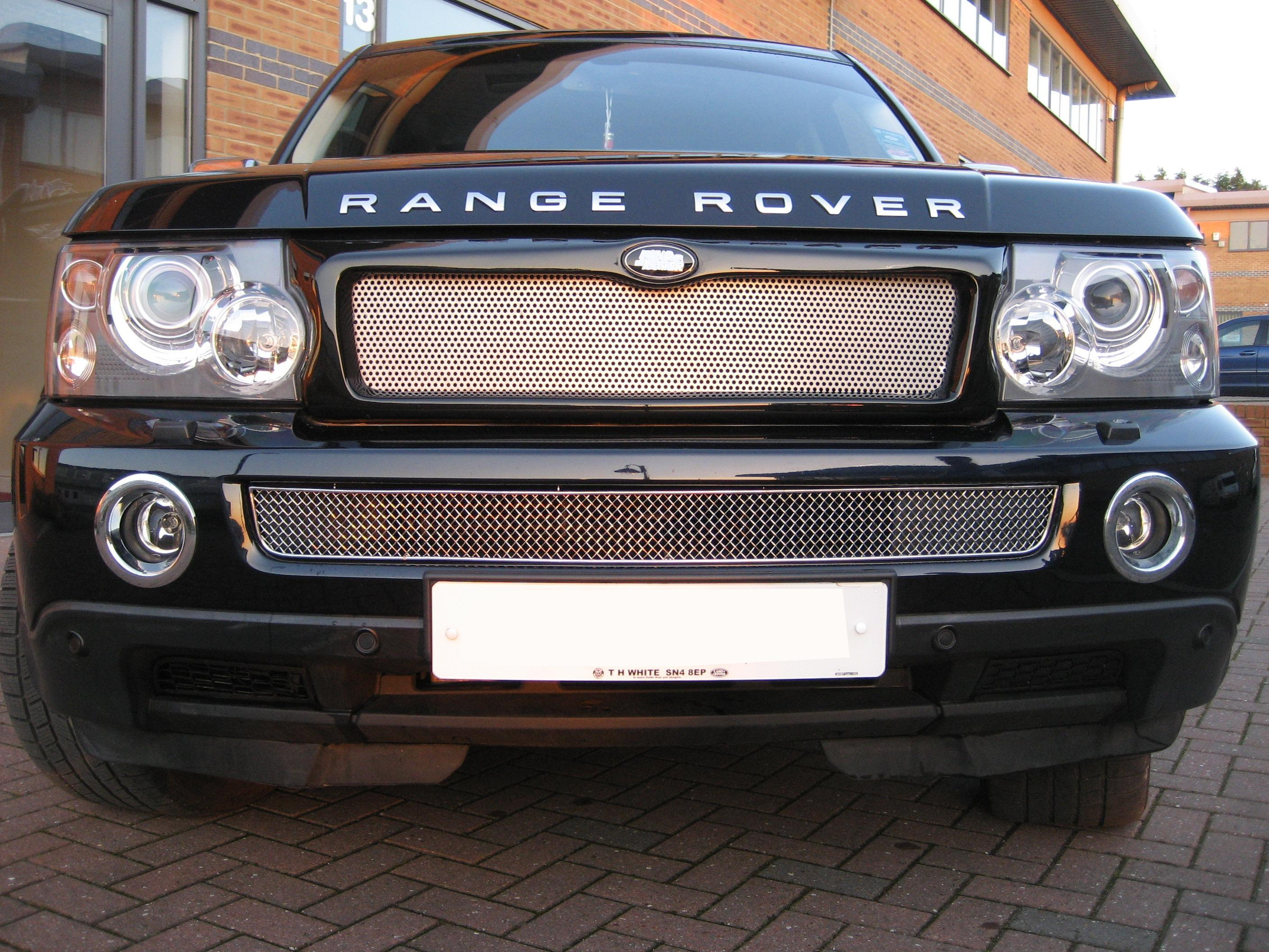 Chrome Bentley style lower MESH GRILLE for Range Rover ...
