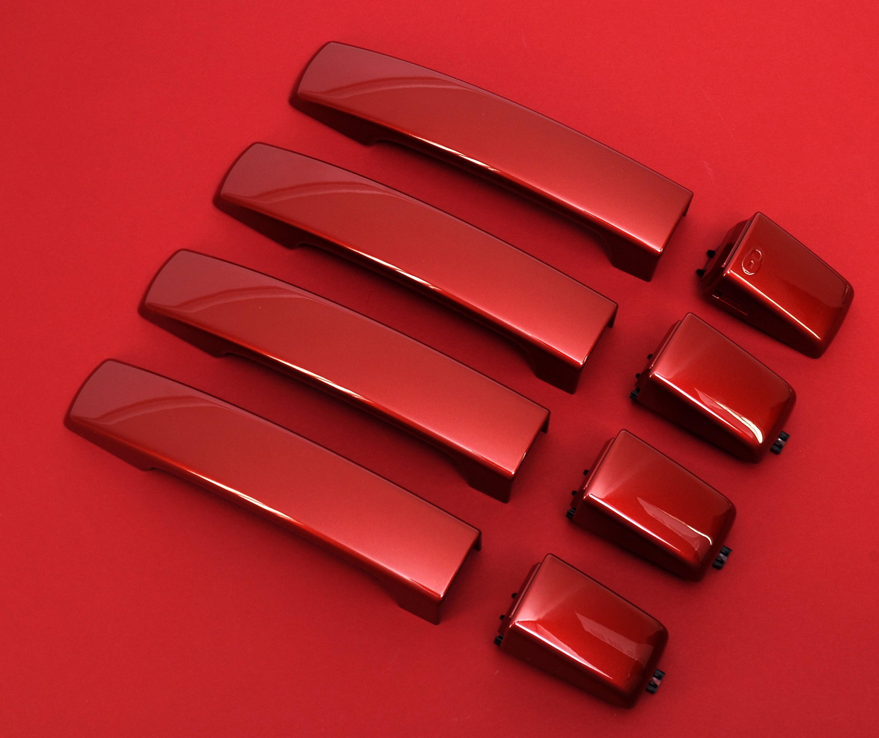 genuine rimini red land rover freelander 2 door handles. Black Bedroom Furniture Sets. Home Design Ideas