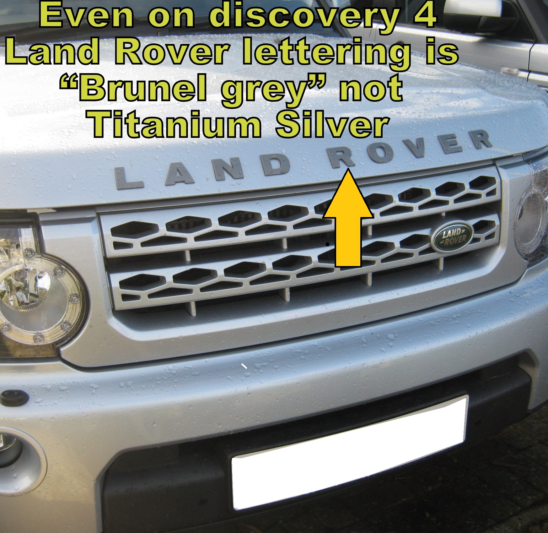 Land Rover Discovery 4 Lr4 2012 3d Model: Titanium Silver Bonnet Lettering LAND ROVER For Discovery
