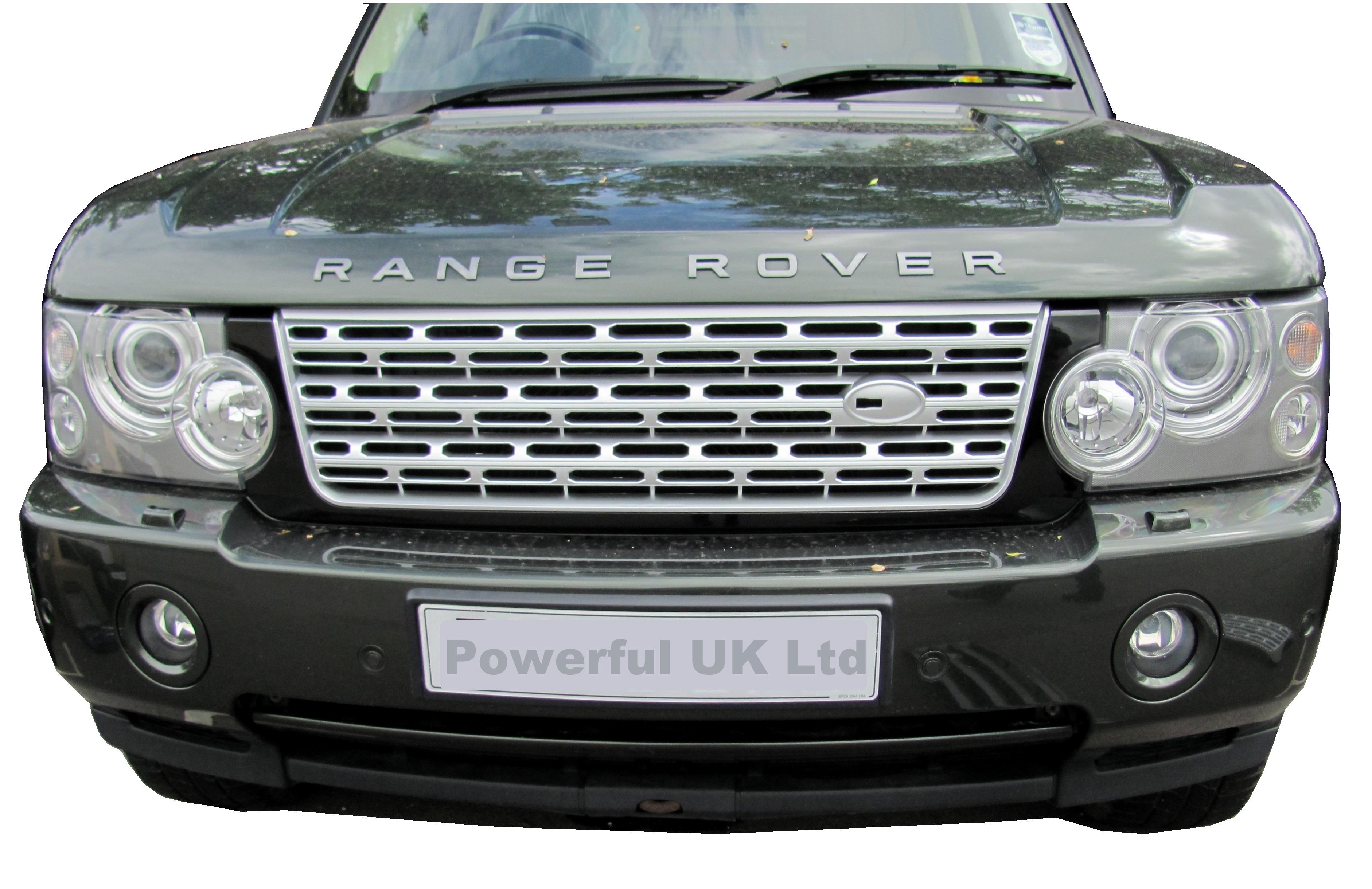 black silver l405 style front grille range rover l322 06. Black Bedroom Furniture Sets. Home Design Ideas